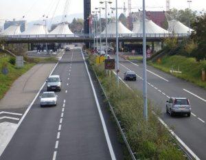 Autoroute A35 et poste frontière