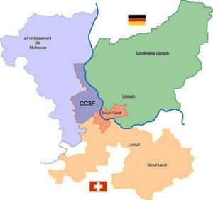 Carte situation Communauté de Communes des 3 Frontières