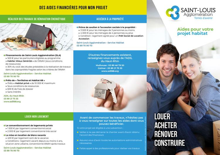 Recto dépliant aides pour votre projet habitat SLA (MAJ 2021)