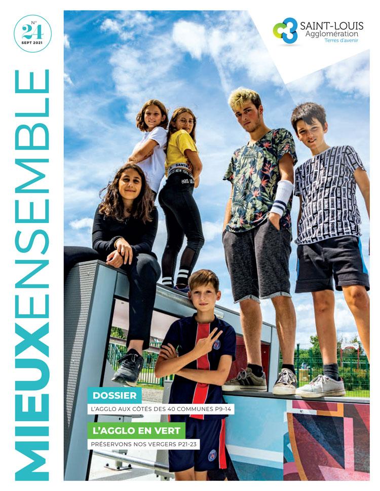 Couverture magazine intercommunal Mieux Ensemble N°24 (septembre 2021)