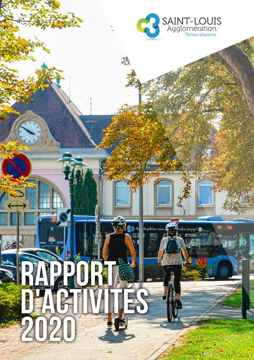 Couverture rapport annuel 2020 Saint-Louis Agglomération