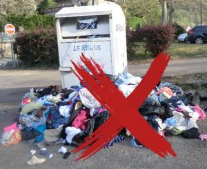 Bornes textiles : ne pas déposer à côté