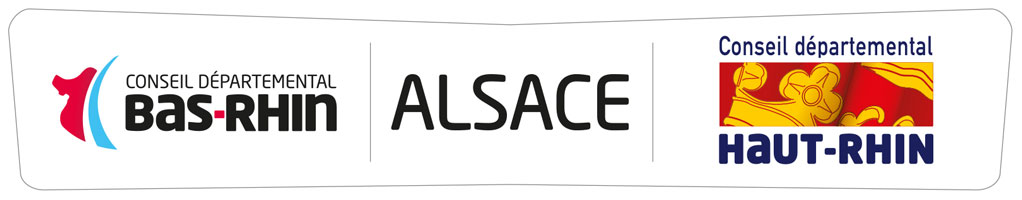 Logo conjoint Alsace Bas-Rhin 67 Haut-Rhin 68