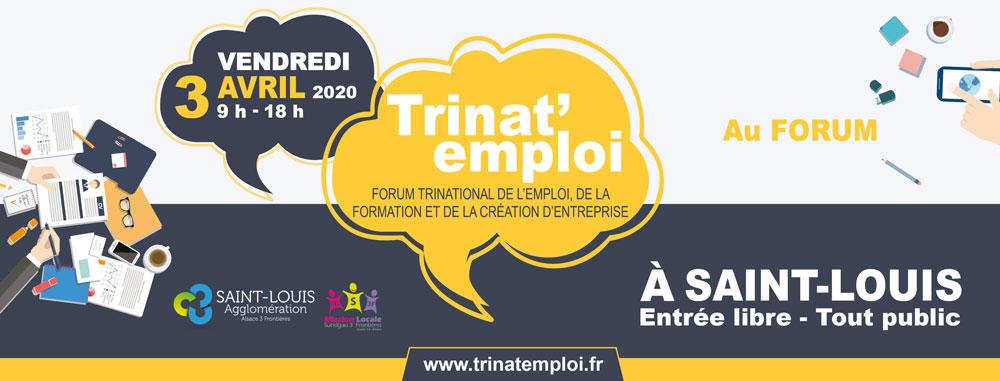 Bannière salon Trinat'Emploi vendredi 3 avril 2020