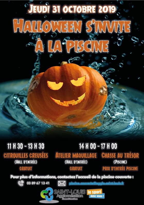 Vacances de la Toussaint 2019 : journée spéciale Halloween à la piscine couverte de Village-Neuf