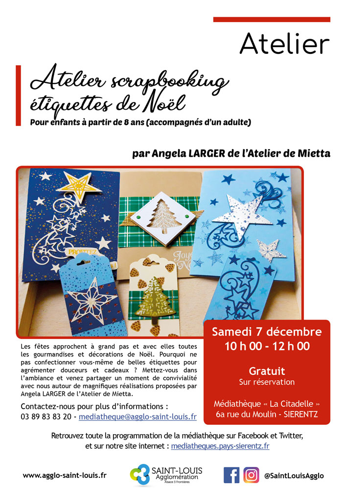 Atelier Scrapbooking Etiquettes De Noel A La Mediatheque De