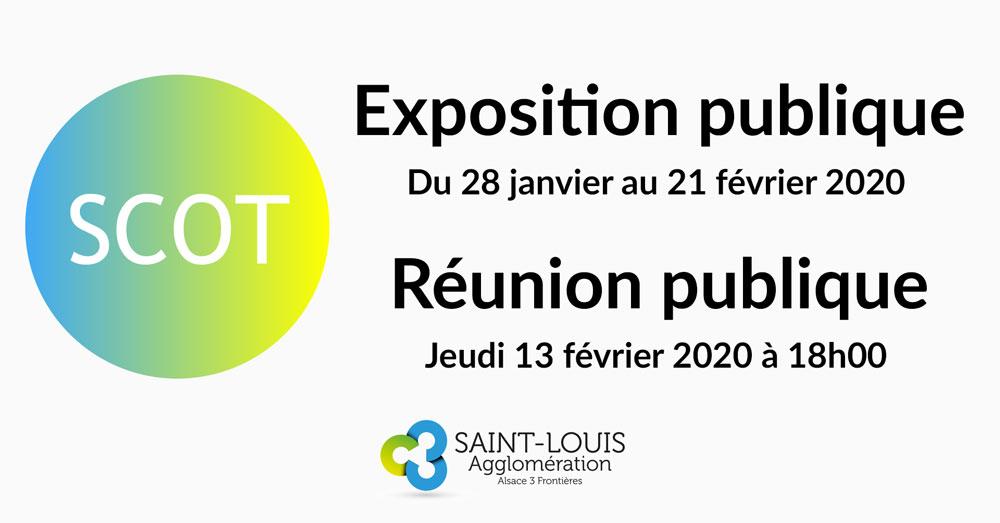 Révision du SCOT : exposition publique et réunion publique janvier et février 2020