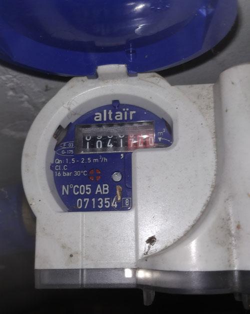 Exemple d'une photo de compteur d'eau