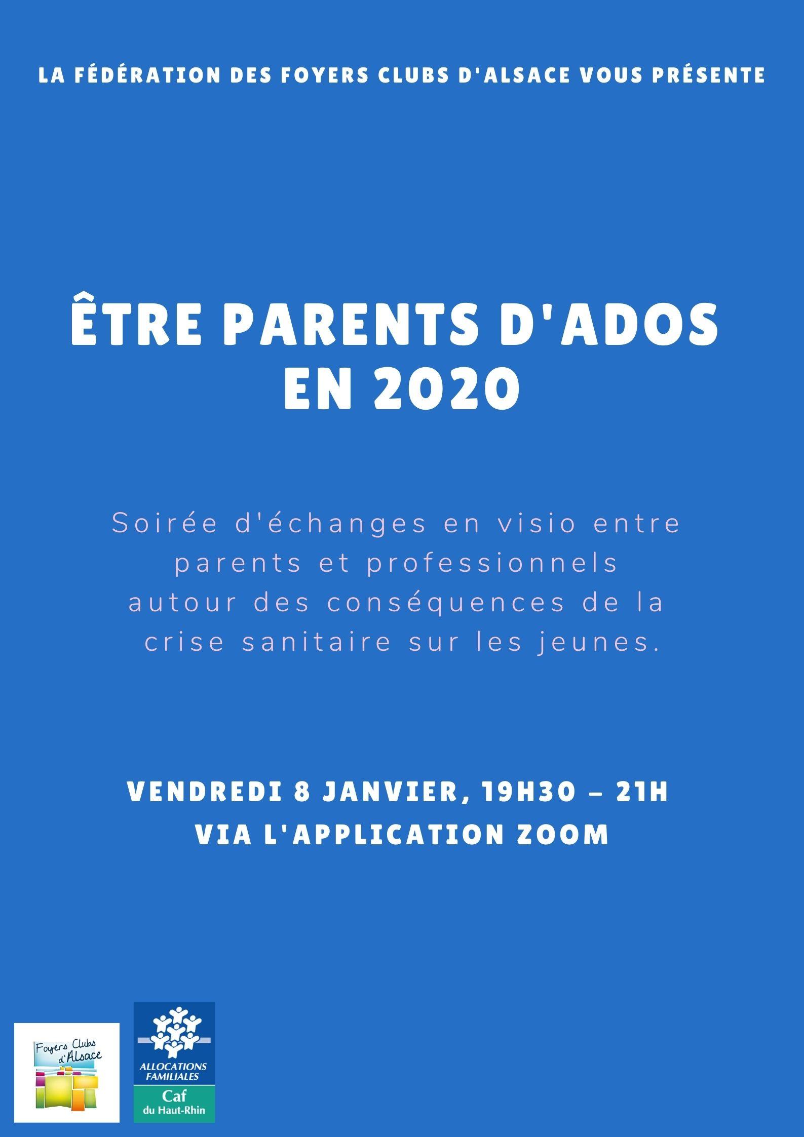 affiche webinaire : être parents d'ados en 2020