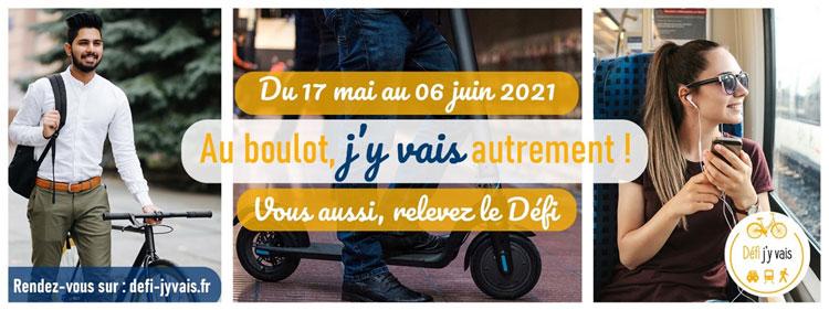 """Défi """"j'y vais"""" : du 17 mai au 6 juin 2021, au boulot, j'y vais autrement !"""