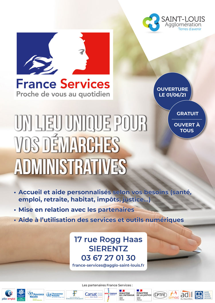 Ouverture d'un Espace France Services mardi 1er juin 2021 à Sierentz