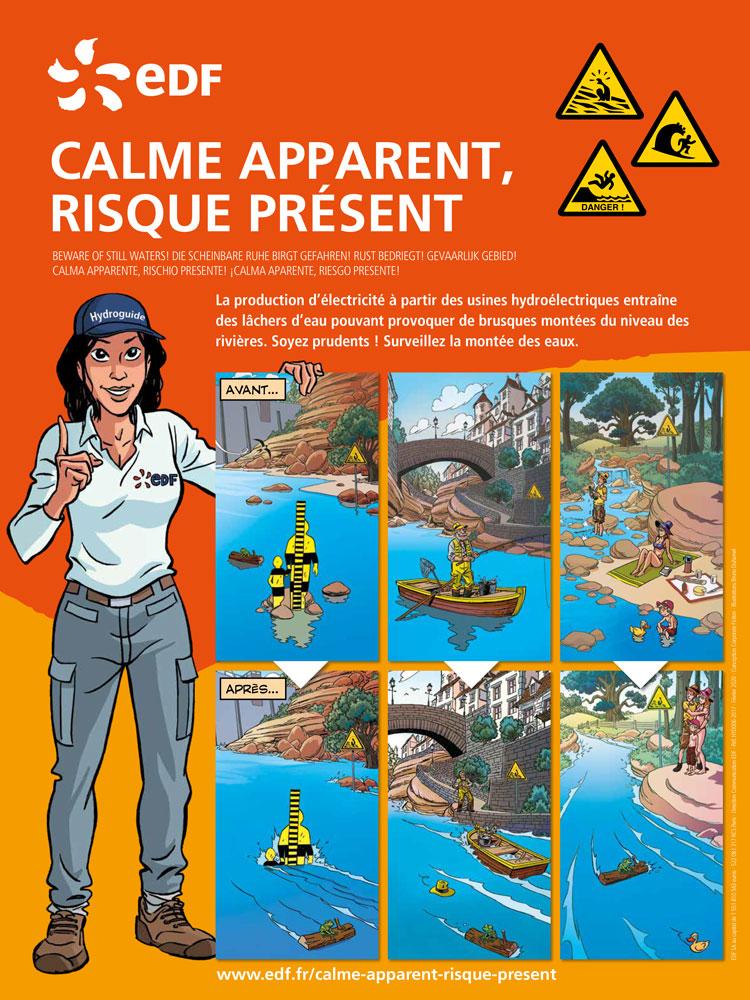 """Campagne de prévention EDF sur les risques des usines hydroélectriques : """"calme apparent, risque présent"""""""